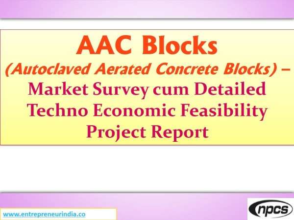 AAC Blocks Autoclaved Aerated Concrete