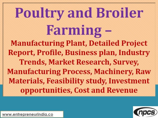 Poultry and Boiler Farming
