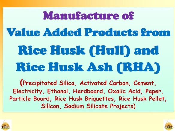 Manufacture Of Value Added Products From Rice Husk Hull And Rice