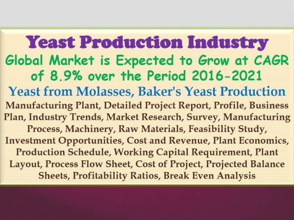 yeast-production-industry-global-market-is-expected-to-grow-at-cagr-of-8-9-over-the-period-2016-2021-yeast-from-molasses-bakers-yeast-production-manufacturing-plant