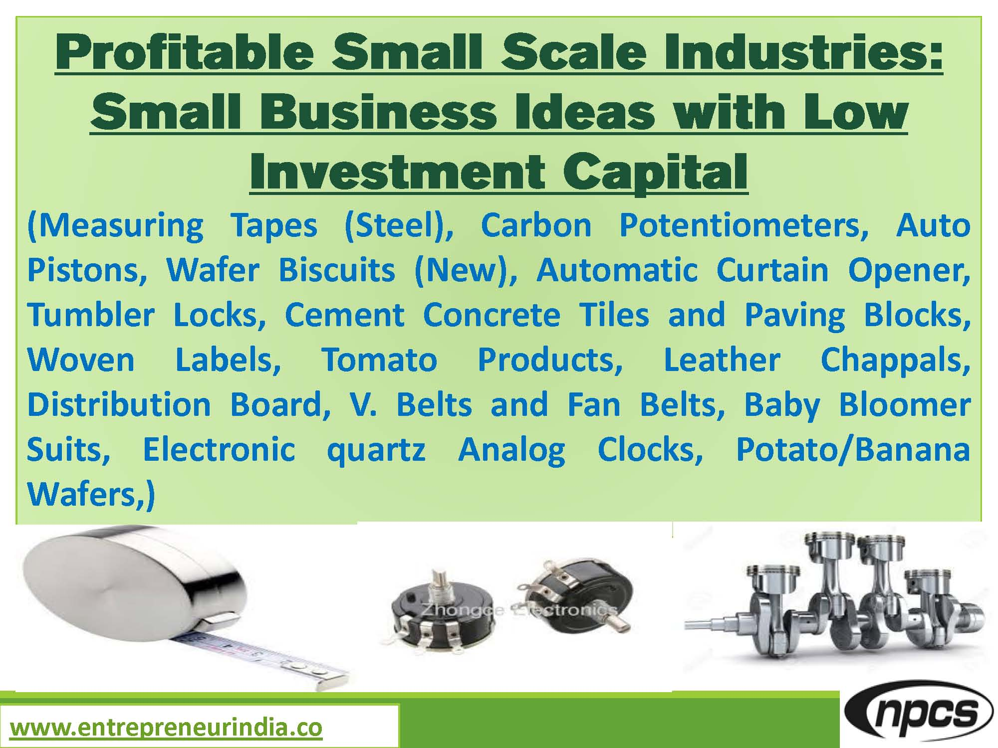 Profitable Small Scale Industries: Small Business Ideas with