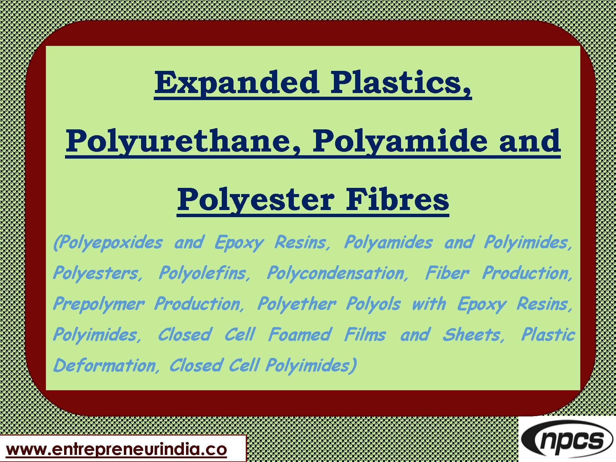 Expanded Plastics Polyurethane Polyamide And Polyester