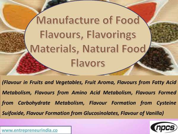 Manufacture of Food Flavours, Flavorings Materials, Natural Food Flavors