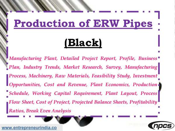 Production of ERW Pipes (Black)
