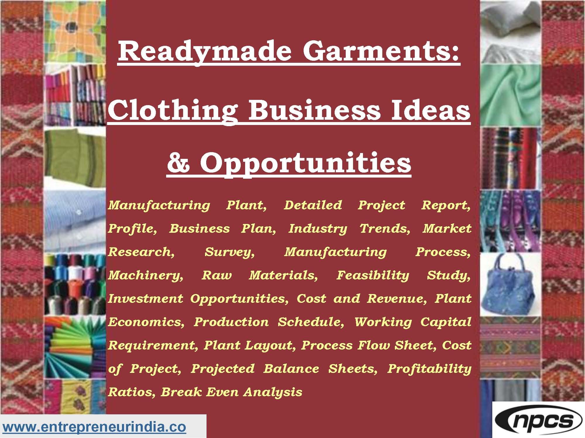 readymade garment business plan pdf
