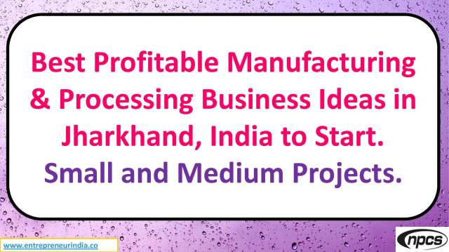 Best Profitable Manufacturing Processing Business Ideas In Jharkhand India To Start Small And Medium Projects Niir Project Consultancy Services