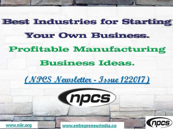 Best Industries for Starting Your Own Business. Profitable Manufacturing Business Ideas..jpg