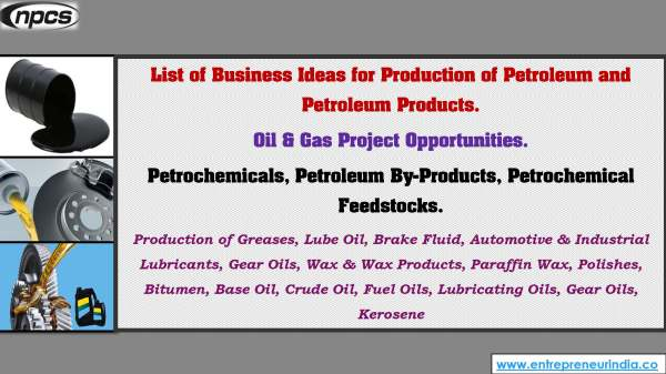 List of Business Ideas for Production of Petroleum and Petroleum Products..jpg