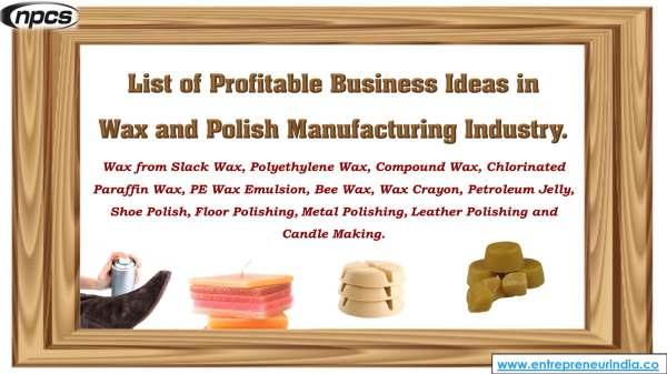 Polyethylene Wax Manufacturing Business | Niir Project