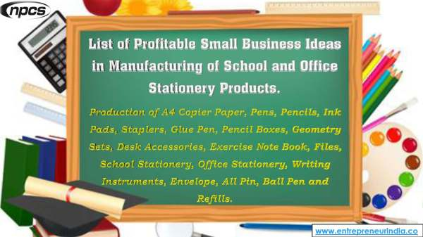 List of Profitable Small Business Ideas in Manufacturing of School and Office Stationery Products..jpg