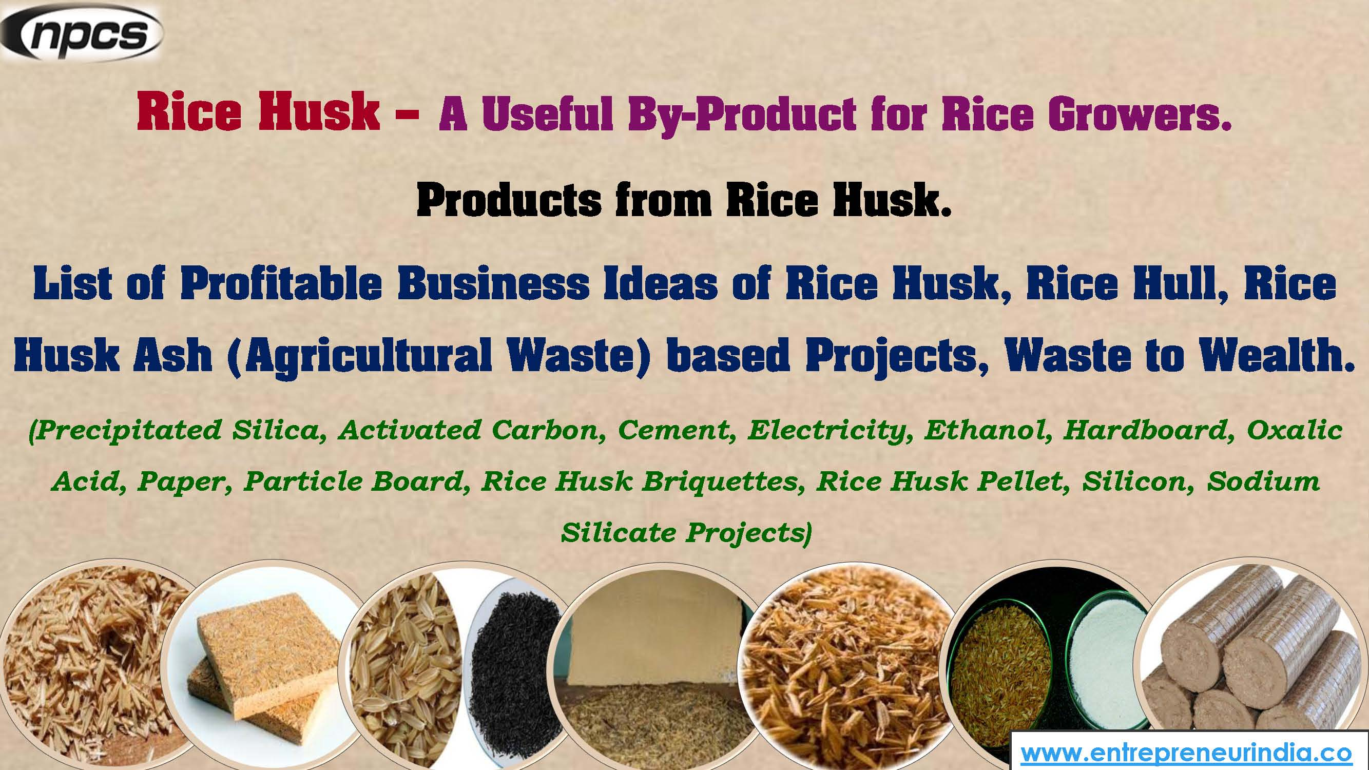 Rice Husk A Useful By Product For Rice Growers Niir Project