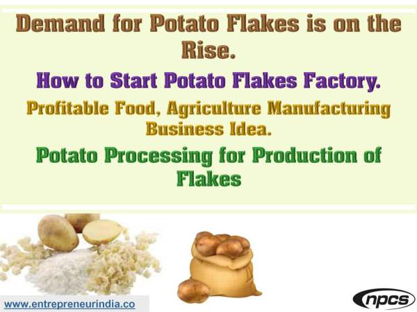 Demand for Potato Flakes is on the Rise
