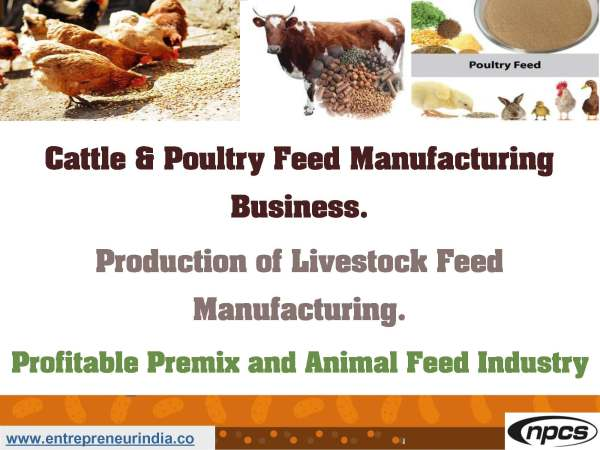 Premix Feed Production for Poultry | Niir Project Consultancy Services