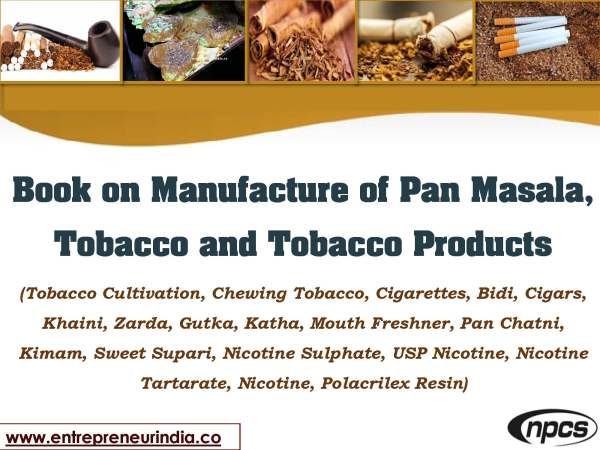 Book on Manufacture of Pan Masala, Tobacco and Tobacco Products.jpg