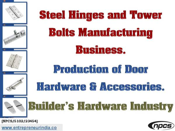 Steel Hinges and Tower Bolts Manufacturing Business.jpg